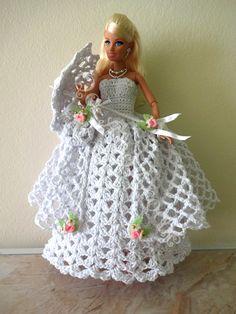 #Barbie #Crochet #Doll #Vestido #Acessórios #Roupa #RaquelGaucha