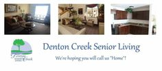Welcoming Denton Creek Senior Living, an affordable independent senior living community in Denton, TX to the Elder Options of Texas website! www.elderoptionsoftexas.com/denton-creek-senior-living.htm Independent Senior Living, Senior Living Communities, Texas, Community, Website, Outdoor Decor, Texas Travel