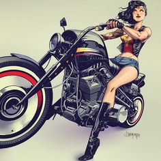 Wonder Woman Motorcycles & Skull Crush gear. Skull Crush Helmets, tactical gear, saddle bags and grips.