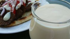 The creamy, sweet-tart, garlicky donair sauce served on the famous Maritime Canadian sandwich can easily be made at home. Donair Recipe, Donair Sauce, House Dressing Recipe, Sauce Recipes, Cooking Recipes, Copycat Recipes, Fish Recipes, Vegetarian Recipes, Canadian Food