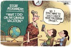 Summer vacation comic funny comics kids cartoons facebook humor ~ Summer…