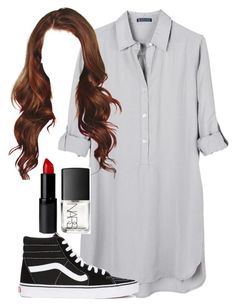 and I play it on repeat by natashayoung on Polyvore featuring polyvore fashion style United by Blue Vans NARS Cosmetics clothing