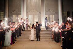 Sparkler Exit | The Milestone Aubrey Mansion | Natalie Gore and James Casey Wedding Day | Stella York