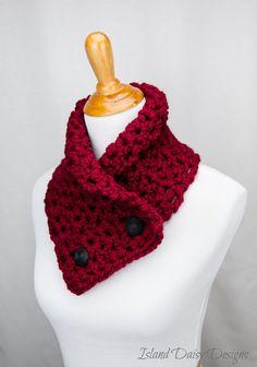 The BERKSHIRE NECKWARMER - Soft, Warm and Cozy Neckwarmer / Scarf - Cranberry   #etsy #teamserenity #handmade #crochet #crafts #diy #wrap #neckwarmer #scarf