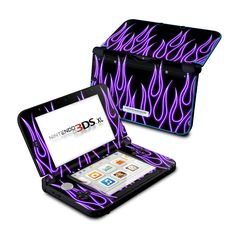 Nintendo 3DS XL Skin - Purple Neon Flames by DecalGirl Collective | DecalGirl