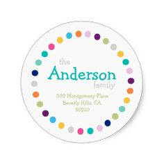 Shop Modern Polka Dots Address Label Sticker created by freshpaperie. Address Label Template, Return Address Stickers, Label Templates, Personalized Stickers, Custom Stickers, Holiday Essentials, Modern Christmas, Christmas Gifts, Thank You Stickers