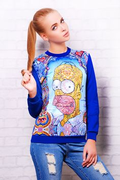 Sweatshirt with The Simpsons print
