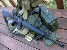A retro clone at its finest. Airsoft Guns, Weapons Guns, Guns And Ammo, M16 Rifle, Assault Rifle, Special Forces Gear, Ar Platform, Tactical Gear, Tactical Wall