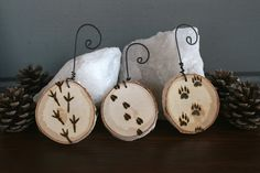 Woodland Tracks Ornaments