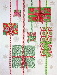 = free pattern = Quilt Inspiration: Christmas Presents quilt by Marinda Stewart