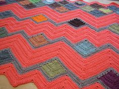 Crazy Ripple Blanket - Afghans Crocheted My Patterns - - Mama's Stitchery Projects