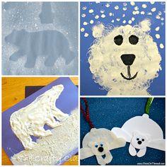 Winter Polar Bear Crafts for Kids to Make - Crafty Morning