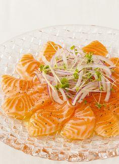とろとろサーモンのカルパッチョ by マリンハーベスト [クックパッド] 簡単おいしいみんなのレシピが230万品