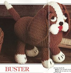 """Buster Dog Crochet Pattern 13"""" Stuffed Animal Puppy Toy P-248 by PatternMania3 on Etsy"""