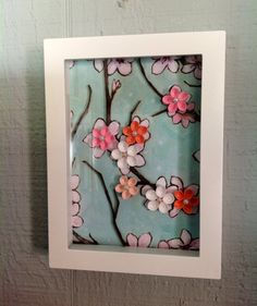 Cherry Blossom Frame Quilling by MaidenLongIsland on Etsy, $20.00