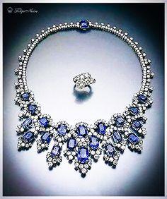 Empress Soraya's Sapphire and Diamond Necklace.