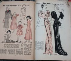 ORIGINAL Vintage Septermber 1936 McCall Style by EleanorMeriwether