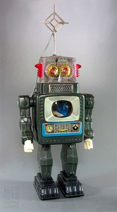 Alps TELEVISION SPACEMAN vintage tin robot by LUNZERLAND., via Flickr
