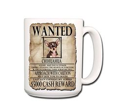 Chihuahua Wanted Poster Coffee Tea Mug 15 oz No 3 >>> Find out more about the great product at the image link.
