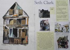 Seth Clark style Textiles Sketchbook, Sketchbook Pages, Architecture Artists, Derelict Buildings, Observational Drawing, Clark Art, Building Art, Gcse Art, Sketchbook Inspiration