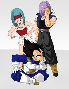 Dragon Ball Z, Vegeta Y Trunks, Goku Y Vegeta, Dbz Characters, Akira, Manga Anime, Zelda, Briefs, Black Goku