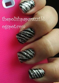 This would be cute with all nails pink and just the ring finger pink and silver zebra striped.