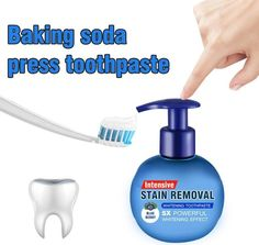Stain Removal Whitening Toothpaste Fight Bleeding Gums Toothpaste Feature Baking soda is a potent toothpaste. This whitening toothpaste is the most effective natural detergent that uses the powerful cleansing power of baking soda. Natural Stain Remover, Natural Detergent, Gum Health, Oral Health, Health Care, White Teeth, Oral Hygiene, Teeth Whitening, Home Organization Tips