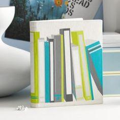 Book Shelf Cover in Blue/Green