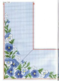 This Pin was discovered by fat Easy Cross Stitch Patterns, Cross Stitch Borders, Simple Cross Stitch, Cross Stitch Flowers, Cross Stitch Designs, Cross Stitching, Cross Stitch Embroidery, Needlepoint Patterns, Embroidery Patterns