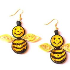 Make honey bee earrings - Follow @Guidecentral for #crafts and #DIY projects