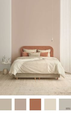 5 Beautiful and Totally Workable Color Palettes for Your Bedroom. 5 Beautiful and Totally Workable Color Palettes for Your Bedroom. good starting point for your future bedroom makeover! Bedroom Colour Palette, Bedroom Paint Colors, Bedroom Color Schemes, Beige Color Palette, Rustic Color Palettes, Apartment Color Schemes, Brown Color Schemes, Mauve Color, Stylish Bedroom