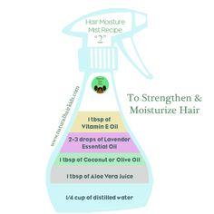 DIY Strengthening Aloe & Lavender Spray  http://www.naturalhairkids.com/hair-care/4-diy-moisturizing-sprays-for-natural-hair/                                                                                                                                                     More