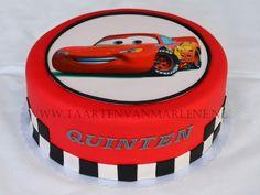 Cars taart met fotoprint.
