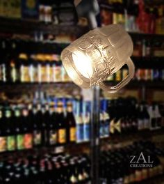 Beer mug Track Light / Track head Beer glass by ZALcreations, $87.00