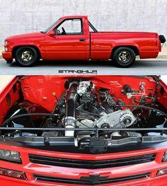 "2,797 Me gusta, 103 comentarios - Racecar_Rush (@nyc_rush) en Instagram: ""#Justune #RedDragon #StangKilr #TwinTurbo #Turbo #Chevy #Chevrolet #Silverado #1500hp #LSX…"""