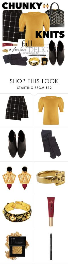 """""""Goldie"""" by kgez ❤ liked on Polyvore featuring Louis Vuitton, Chloé, Alexander Wang, Forever 21 and Stila"""