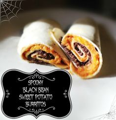 Hey, What's For Supper?: Halloween Food: Spooky Black Bean and Sweet Potato Burritos