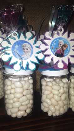 Frozen Baby Food Jar Party Favors with Elsa Anna by Stinkystuffs