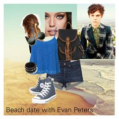 """Evan Peters"" by bonjouremilyb ❤ liked on Polyvore featuring Maybelline, France Luxe, rag & bone/JEAN, Club L, Converse and Valentino"