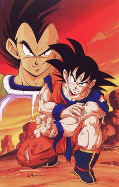 DRAGON BALL Z Vintage (1992) Vegeta & Goku Scan from DBZ calendar source : personal collection Published by Toei Animation / Shueisha / Fuji TV