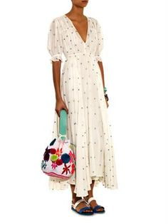Louise embroidered cheesecloth dress