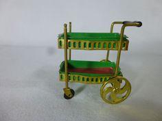 Vintage Ideal Petite Princess Dollhouse Furniture Rolling Tea Cart #Ideal #Ideal