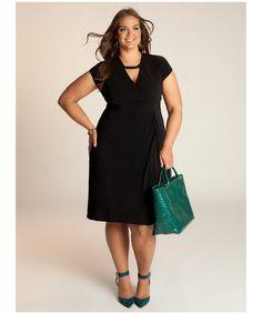 moda tallas grandes vipmujer vestido negro