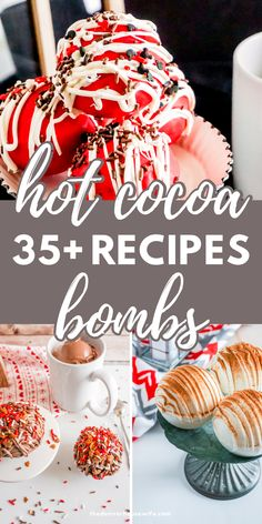 Looking to make hot chocolate bombs? Her are over 35+ ways to make hot chocolate or hot cocoa bombs.