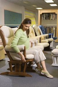 How to Recover the Cushions of a Stork Craft Glider Rocker & Ottoman