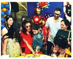 Kajol's son Yug gets a superhero birthday party