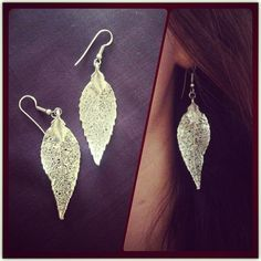 Fall! #booboosheek #silverdipped #leaf #silver #sterlingsilver #post #hook #hanging #drop #earrings #jewelry #fashion #fall #variety #accessories #gifts #present #alloccasion #BBS