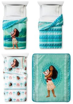 disney pixar moana twin 5 piece bedding set w reversible comforter 3 pc she