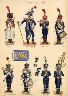 Napoleonic Wars, Strasbourg, Soldiers, France, Watercolor, Paper, Art, Small Soldiers, Military Men
