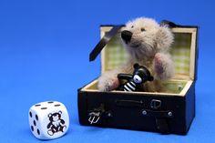 Wolfi 6 cm mit Reisekoffer